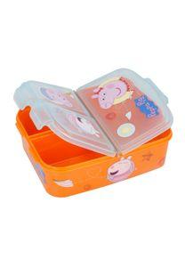 Peppa Wutz Pig George Premium Lunchbox Brotdose Frühstücks-Box Vesper-Dose mit 3 Fächern