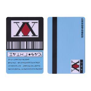 2 Stück / Set Anime Hunter X Hunter Karte Lizenzspielzeug Japan Anime GING FREECSS Killua Zoldyck Kurapika Abzeichen Bus Bank Kreditkartenaufkleber -H04