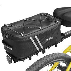 Fahrradkoffer 7L Fahrrad Pendeltasche Wasserfeste Fahrradtasche mit wasserdichter Regenhuelle