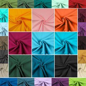 0,5m Baumwoll-Jersey uni Meterware Jersey-Stoff   auch für Kinder , Farbe:schwarz