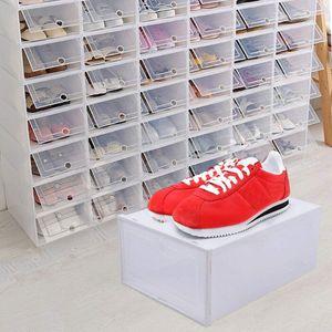 24 Stück Schuhablageboxen Schuhkartons Aufbewahrung Set Kunststoffschuhboxen Faltbare Boxen Schuhkasten Schuhbox