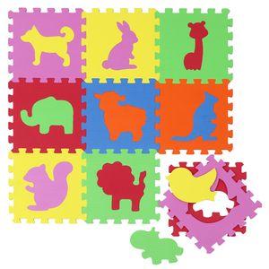 Baby Puzzlematte Kinder Spielmatte EVA Krabbelmatte Spielteppich Babymatte Zoo