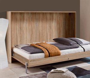 Schrankbett Funktionsbett Bett Juist 120x200cm eiche sägerau Modern
