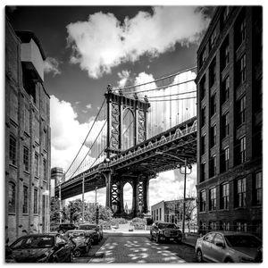 ARTland Leinwandbilder New York City Manhattan Bridge Leinwandbild auf Keilrahmen Größe: 30x30 cm