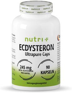 Ecdysteron Kapseln hochdosiert + vegan - 245mg pro Kapsel - 95% beta Ecdysteron - Cyanotis Arachnoideae Extrakt (besser als Spinat) - 90 Capsules - Fitness & Bodybuildin