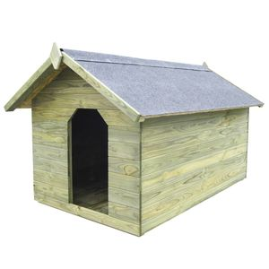 Perfekt® Hundehütte,Outdoor Hundehaus für große Hunde,Platz für ein Hundebett, mit öffnendem Dach Imprägniertes Kiefernholz🍹5888