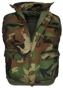 """Herren US ARMY Steppweste """"Opasquia"""" - Woodland - XL"""