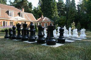 XL Outdoor Outdoor Gartenschachspiel, bis zu 30 cm hoch - Wunderschön inkl. Matte