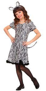 Kostüm Zebra Zoo Mädchen Größe: 128