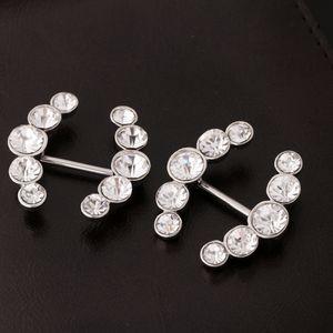 1 Paar Brustwarzen Piercing für Frauen aus Edelstahl 316L, Strass Mode Geschenk