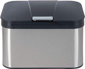ONVAYA® Biomülleimer Bill für die Küche | Komposteimer mit Deckel | Abfallbehälter aus Edelstahl für Biomüll |Abfalleimer | geruchsfrei & luftdicht | 4,3 Liter