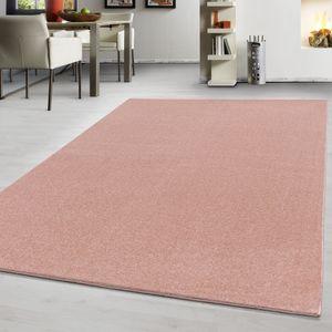 Teppich Modern design Teppich einfarbig kurzflor Teppich uni color Rosa, Farbe:ROSA,160 cm x 230 cm