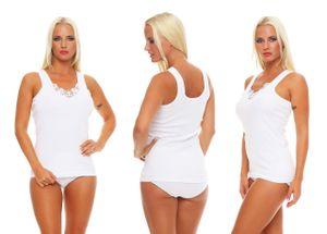4 Damen Unterhemden mit Spitze, Größe :48/50