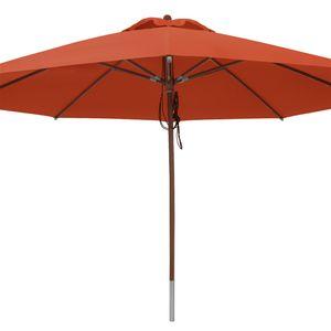anndora Sonnenschirm Gastronomie 4 m rund wasserabweisend + Winddach Terracotta - Terracotta