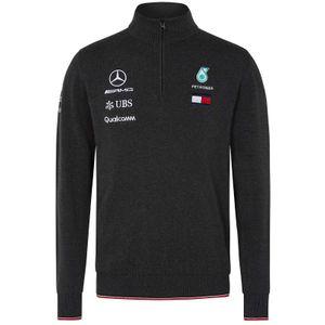 Mercedes AMG Petronas Motorsport 2019 F1 Team Strickpullover mit Zip XL