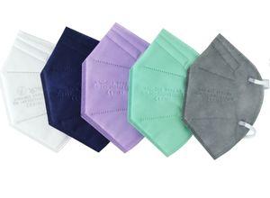 30x FFP2 Masken, Atemschutzmasken, Mundschutz, FFP2 Atemschutzmasken CE0161, Schutzmasken, weiß, grün, lila, blau, grau, CE