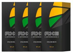 Axe Wild Aftershave Vitalizing Mojito für Herren Männer Men 4x 100ml Balsam Lotion Rasierwasser mit preisgekröntem Duft