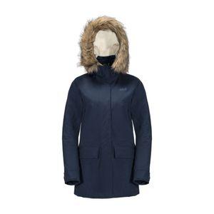 JACK WOLFSKIN Helsinki Jacket Women midnight blue - Winterjacke mit Webpelzbesatz, Größe_Bekleidung:L, Wolfskin_Farbe:midnight blue
