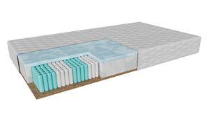 Taschenfederkernmatratze Massa (90x200cm) H4-H5 hart-sehr hart, Matratze mit Micropocket, Memory Schaum und Kokosnusseinsatz