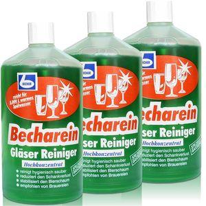 3x Dr. Becher Becharein Gläser Reiniger Hochkonzentrat / 1 Liter