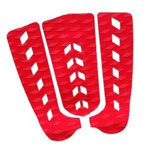 3 Stück Surfbrett Traction Pad Farbe rot