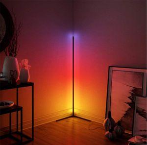 Lumiereholic RGB Dimmbare Eckstehleuchte LED Stehlampe Mit Fernbedienung Farbwechsel für Restaurant Schlafzimmer