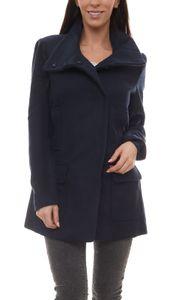 BOYSEN´S Outdoor-Jacke angenehm weiche Damen Woll-Jacke mit Stehkragen Blau, Größe:38