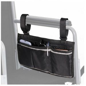 Rollstuhl Seite Tasche Rollstuhl Armlehne Tasche Wasserdicht Leichte Schwarz Farbe Schwarz