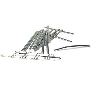 Urhome 50 x Nasenbügel aus Metall – DIY Metallbügel für Behelf Produkte aus hochwertigem Aluminium