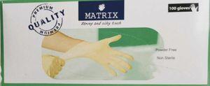 100 Stück Weiß LATEX 0002L L Einmalhandschuhe Puderfrei