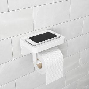 Umbra Toilettenpapierhalter Flex Sure-Lock, WC-Rollen Halter, mit Ablage, Kunststoff, Weiss, 1014159-660