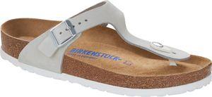Birkenstock Gizeh Flips Nubukleder Normal Damen mineral Schuhgröße EU 38 (Normal)