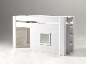 Vipack - Noah halbhohes Bett 90 x 200 cm Liegefläche, Weiß