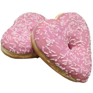 Vestakorn Vegane Donuts, 2x Donutherzen mit pinker Glasur á 50g