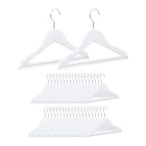 relaxdays 40 x Kinderkleiderbügel weiß Kinderbügel Babybügel Holzkleiderbügel Kleiderbügel