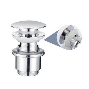 Homelody Universal Ablaufgarnitur Pop-Up Ventil 1 1/4 Zoll aus Messing mit/ohne Überlauf Abflussgarnitur für Waschtisch/Waschbecken