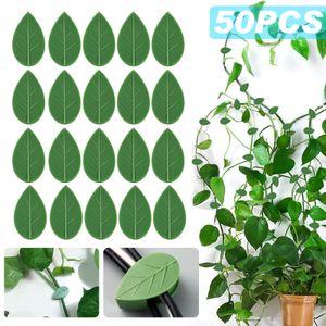Pflanzenklammern, 50 Stück Selbstklebende Pflanzenclips zum Kletterpflanzen befestigen, Datenkabel Ladekabel sortieren