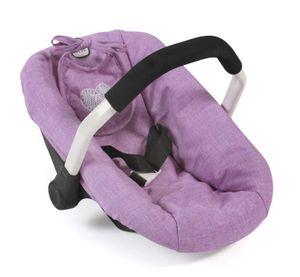 Puppen-Autositz, melange flieder