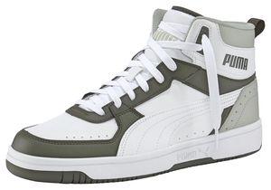 Puma Rebound Joy Mid Schuhe Sneaker Mid Cut Basketballsneaker, Größe:UK 10.5 - EUR 45 - 29.5 cm, Farbe:Grün (Forest Night-Puma White)