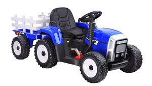 COIL Traktor mit Anhänger mit Funktionen Licht und Sound,Fahrzeug Akku Blau