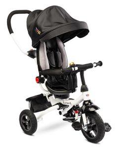 Kinderdreirad Toyz Wroom Black Dreirad laufrad ab 3-4 Jahre