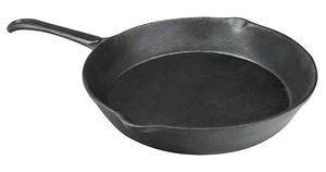 CampAir Gusseisenpfanne mit Griff,  schwerer Eisenguss, feuerfest, schwarz, ⌀ 19 cm