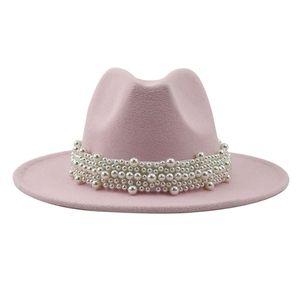 Panama Fedora Hut Kappe für Männer Frauen Flache Top  Hut, Sombreros Hochzeit Party Gentleman Hut Kostüm Zubehör Farbe Rosa