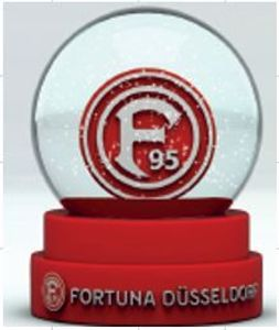 Fortuna Düsseldorf Schneekugel rot