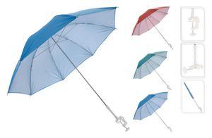 Sonnenschirm für Buggy Sonnenliege Balkonschirm Kinderwagen Ø 100 cm UV Schutz(Blau)