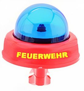 Kinder Fahrrad Feuerwehr Sirene Blaulicht Glocke Einsatz Klingel Feuerwehrmann