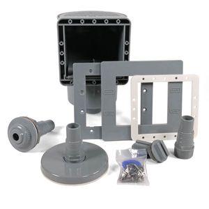 Skimmer-Set für Stahlwandbecken in der Trendfarbe grau