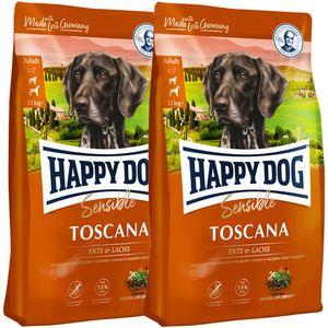 2 x 12,5 kg Happy Dog Supreme Sensible Toscana