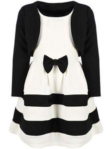 BEZLIT Festliches Mädchen Kleid mit Bolero Schwarz-Weiß 116