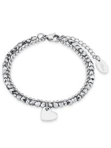 s.Oliver 2018344 Damen Armband Herz Edelstahl Silber 20 cm